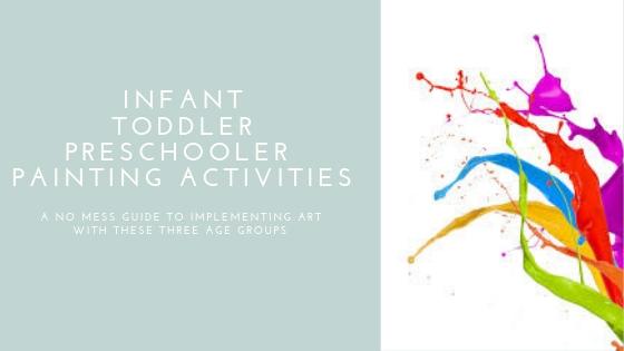 infant toddler preschooler painting activities 2