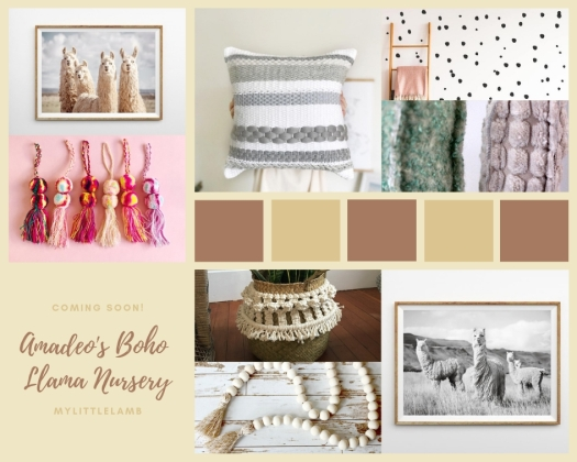 Amadeo's Boho Llama Nursery