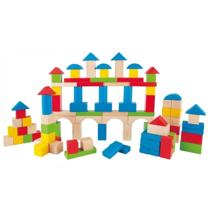 Build-Up-&-Away-Blocks-100-pcs-by-Hape-070-E0427